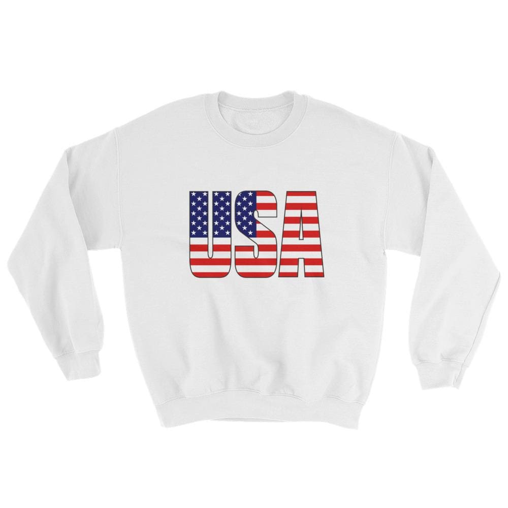 USA Sweatshirt - White / S