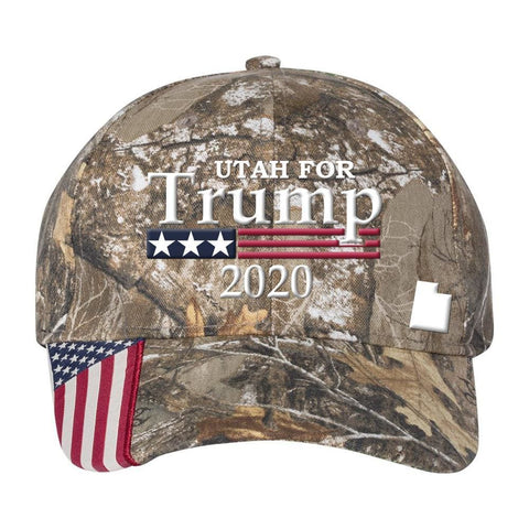Image of Utah For Trump 2020 Hat - Realtree Edge