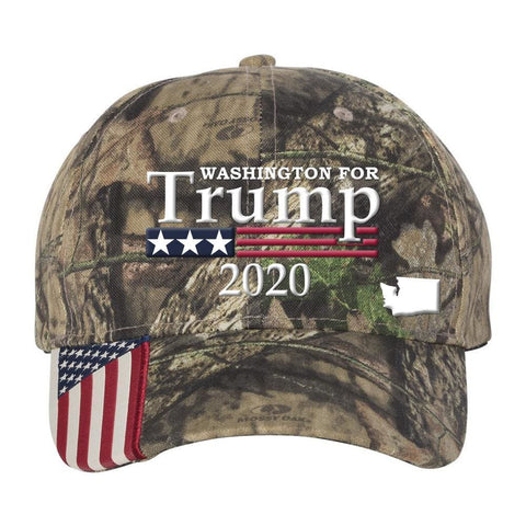Washington For Trump 2020 Hat - Mossy Oak Country