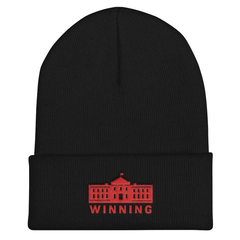 WINNING Cuffed Beanie - Black