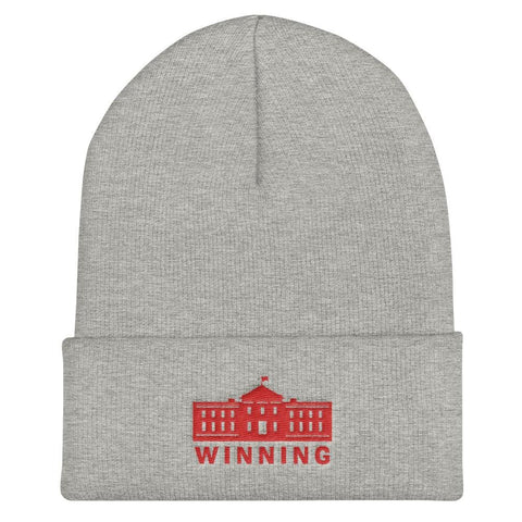 WINNING Cuffed Beanie - Heather Grey