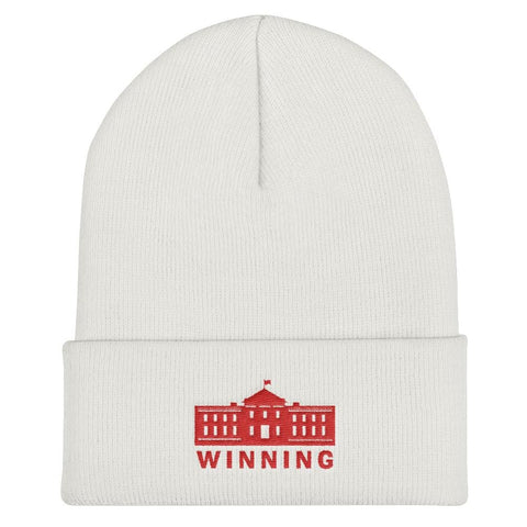 WINNING Cuffed Beanie - White