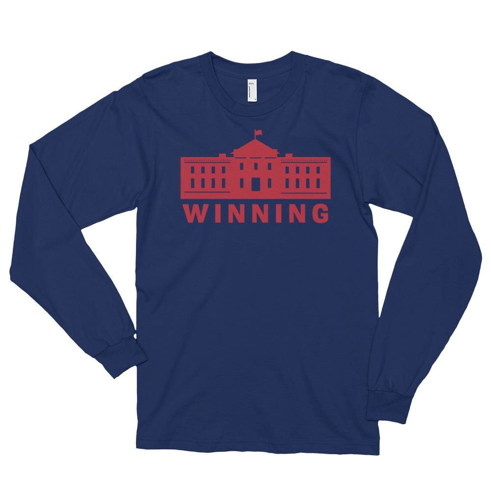 WINNING *MADE IN THE USA* Unisex Long Sleeve T-shirt - Navy / S