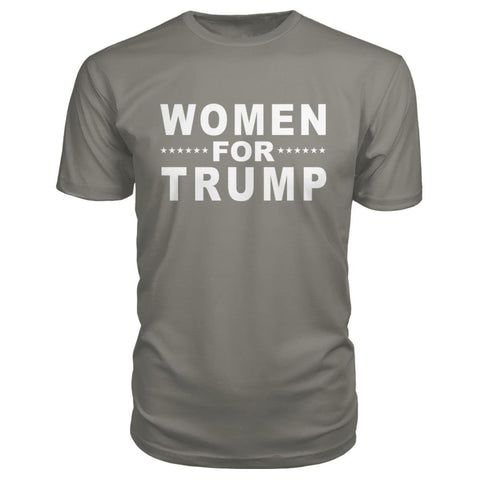 Image of Women For Trump Premium Tee - Charcoal / S - Short Sleeves
