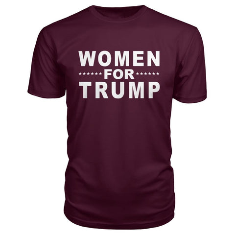 Women For Trump Premium Tee - Maroon / S - Short Sleeves
