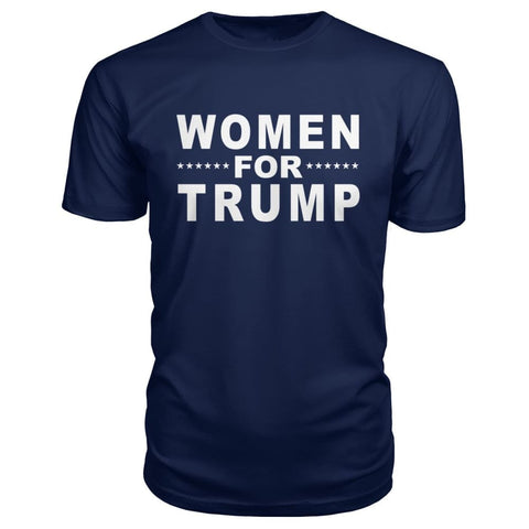 Image of Women For Trump Premium Tee - Navy / S - Short Sleeves