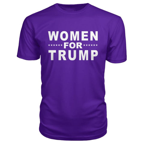 Women For Trump Premium Tee - Purple / S - Short Sleeves