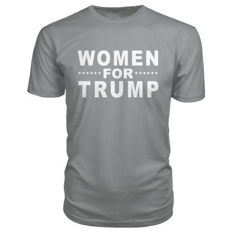 Women For Trump Premium Tee - Storm Grey / S - Short Sleeves