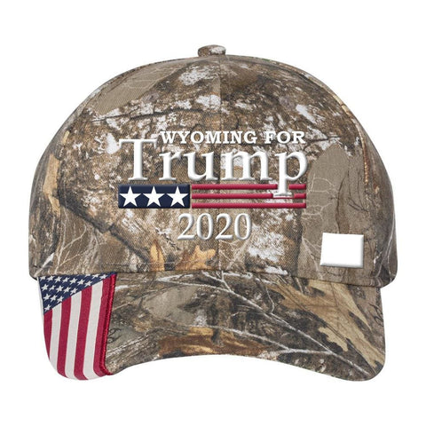 Wyoming For Trump 2020 Hat - Mossy Oak Country