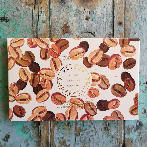Alicja Confections Espresso Chocolate Bar