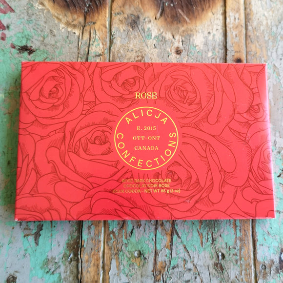 Alicja Confections Rose Chocolate Bar