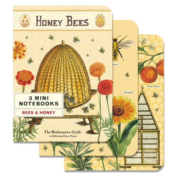 Cavallini Bees & Honey 3 Mini Note Books Set