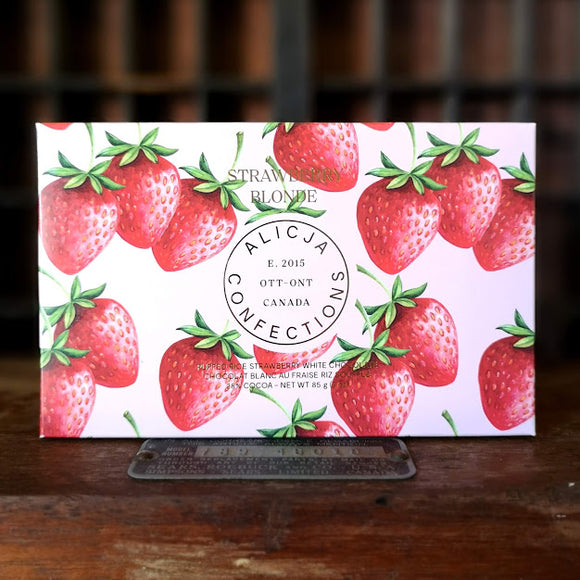 Confections Alicja Barre De Chocolat Carte Postale Strawberry Blonde