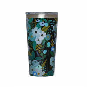 Corkcicle Tumbler Tasse Isolée Garden Party Blue Sur fond Blanc