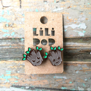 Créations Lili Pop Boucles D'Oreilles Baby Groot Lili0577