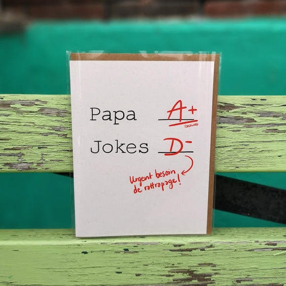 Darveelicious - carte - Dad A+ jokes D-