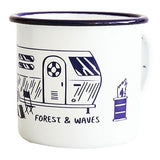 Forest And Waves Mug Surf Sur Fond Blanc