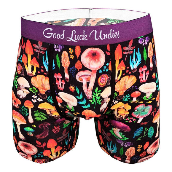 Good Luck Sock Undies Boxer Pour Homme Mushrooms