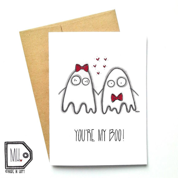 Made In Happy - Carte De Souhait - You're My Boo