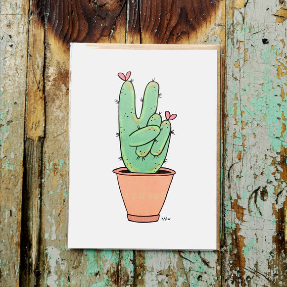 Made In Happy Carte Cactus Peace