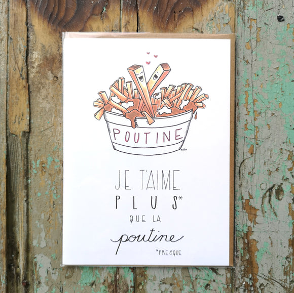 Made In Happy Je T'aime Plus Que La Poutine