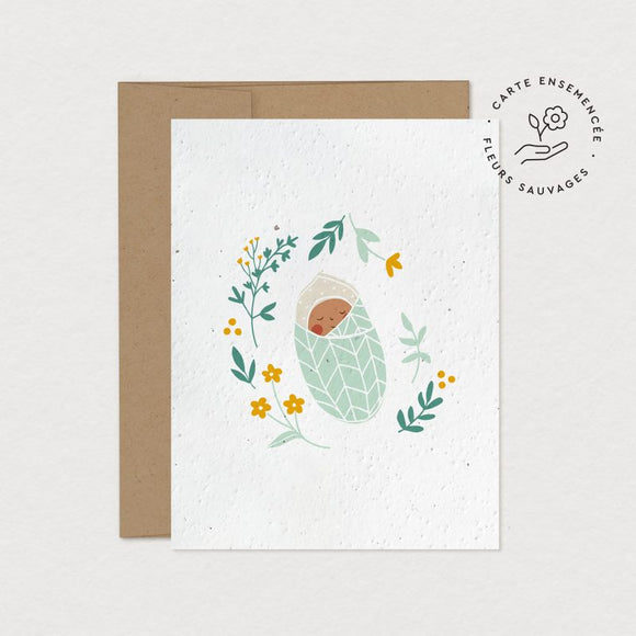 Mimosa Design Carte Ensemencee cocon