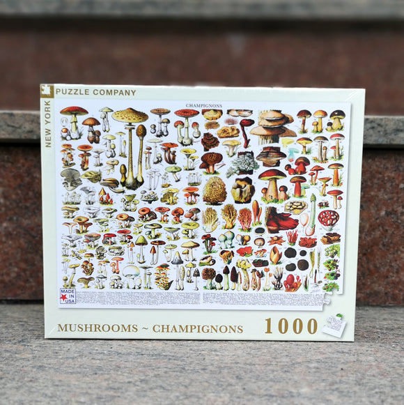New York Puzzle Company Mushrooms Champignons