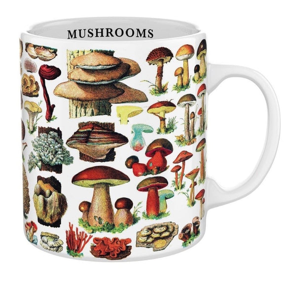 New York Puzzle Company Mushrooms Mug Tasse Champignons