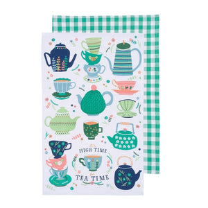 Now Design Linges À Vaisselle Perfect Cuppa Sur Fond Blanc