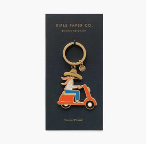 Rifle Paper Co Porte Clef Vroom vroom Emballage