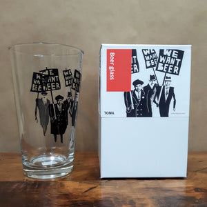 Toma Objet Verre We Want Beer