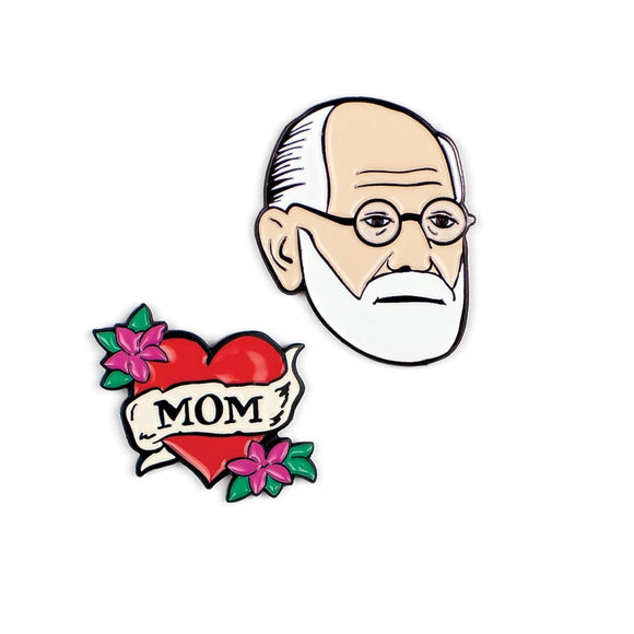 Unemployed Philosopher Guild Freud & Mom Pin