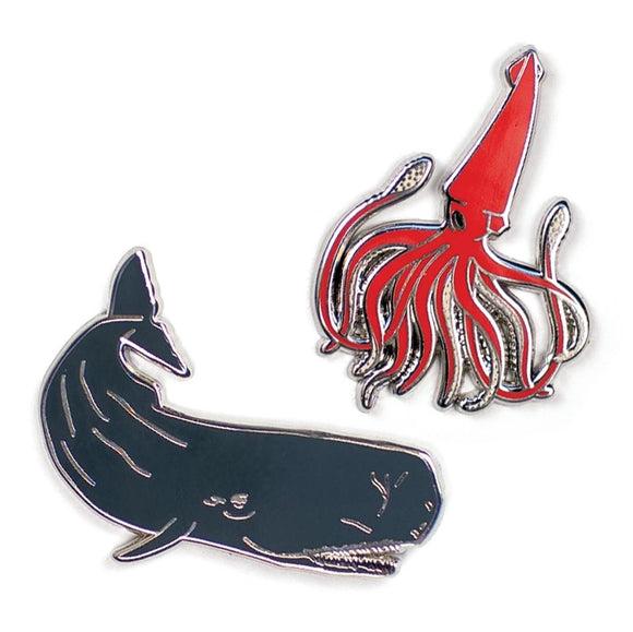 Unemployed Philosopher Guild Squid & Whale Pin