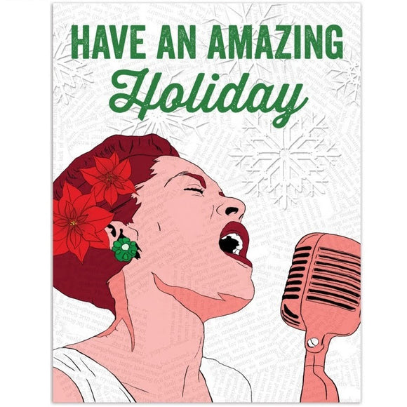 Carte de Noël Billy Holiday - Amazing
