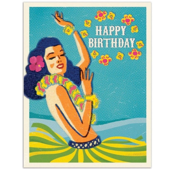 Carte de fête Hawaiï - Happy birthday