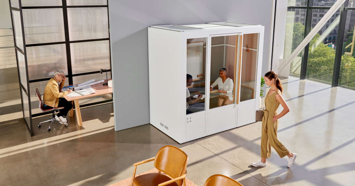 Room Soundproof Phone Booths Meeting Pods For The Open Office