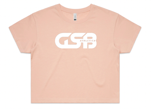 Women's GSB Athletica Crop Tee (Pale pink)