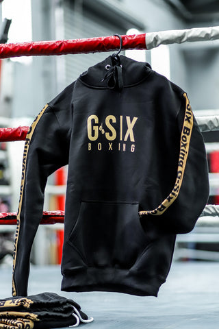 G-Six Fight Team Hoodie - Black & Gold