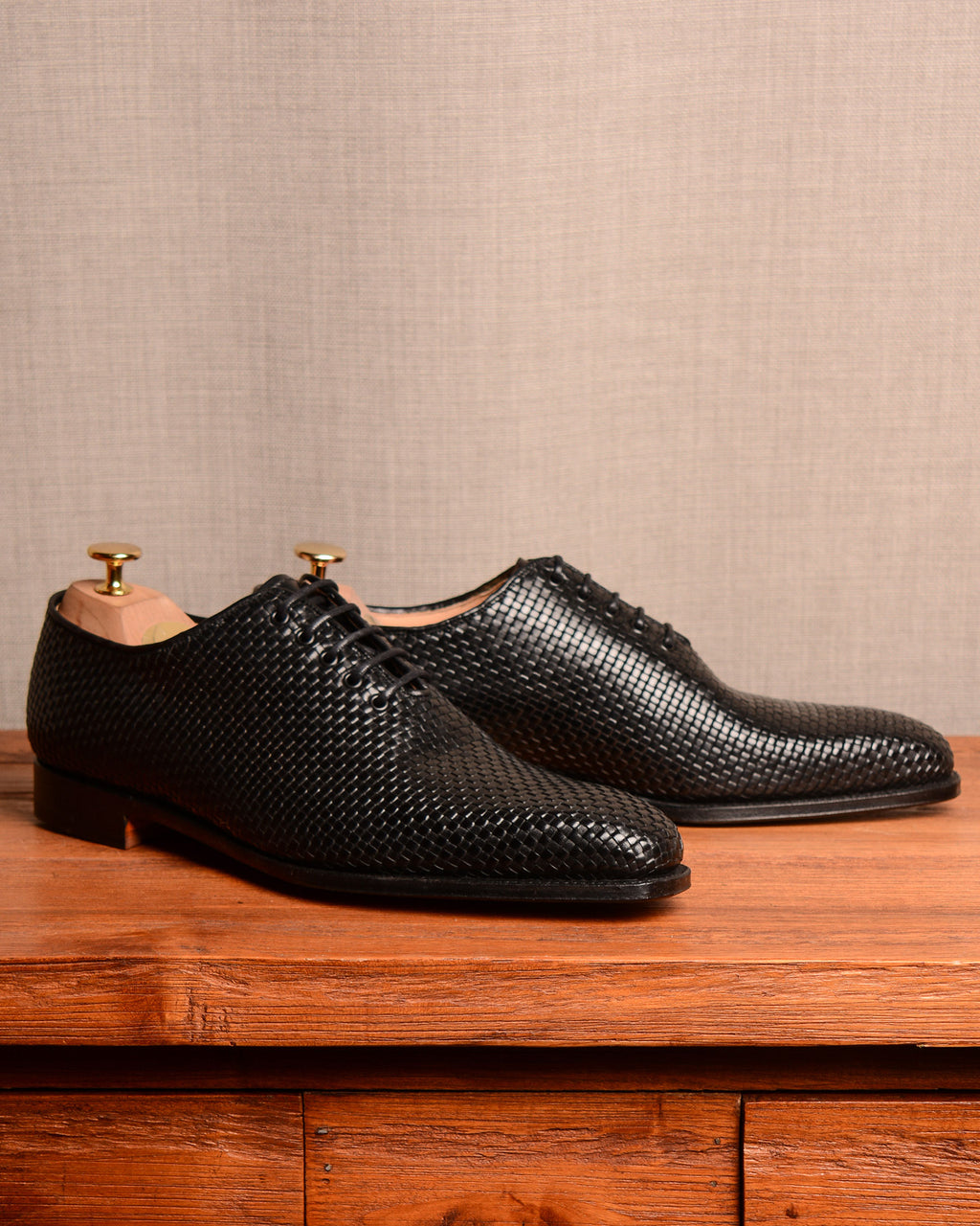 Crockett & Jones Alex - Woven Black Calf