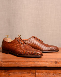 Crockett & Jones Alex - Woven Tan Calf