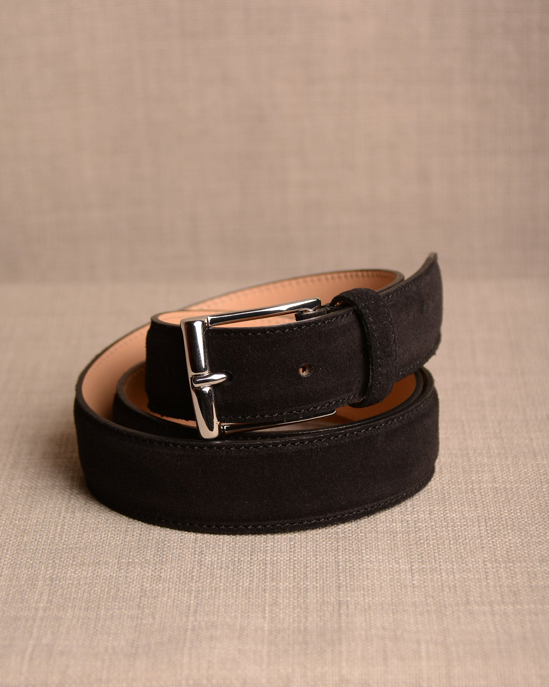 Crockett & Jones - Belt Black Suede