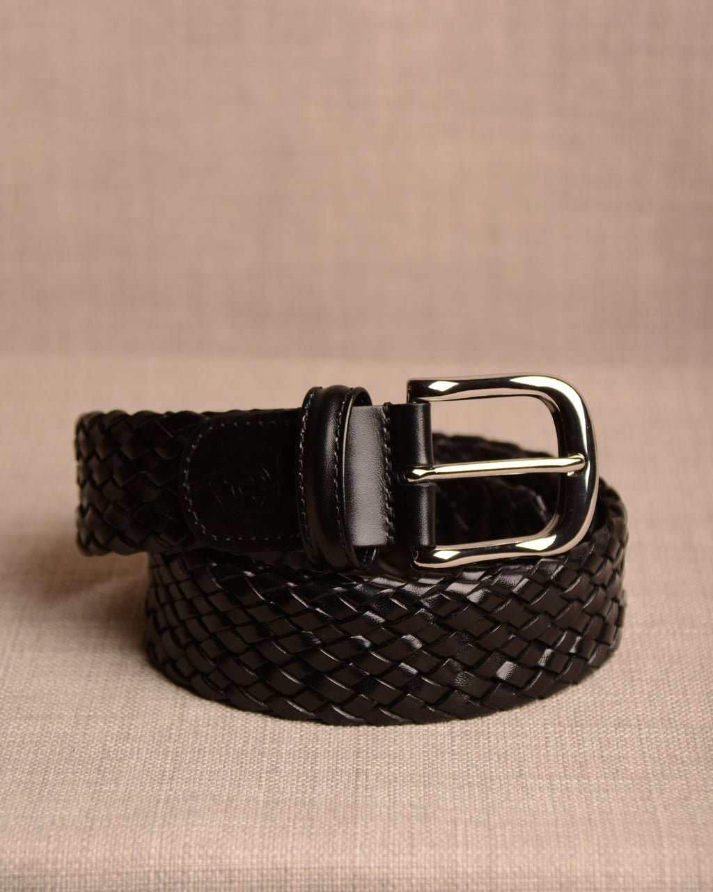 Crockett & Jones - Belt Black Weave