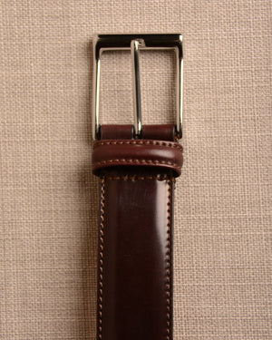 Crockett & Jones - Belt Burgundy Cordovan