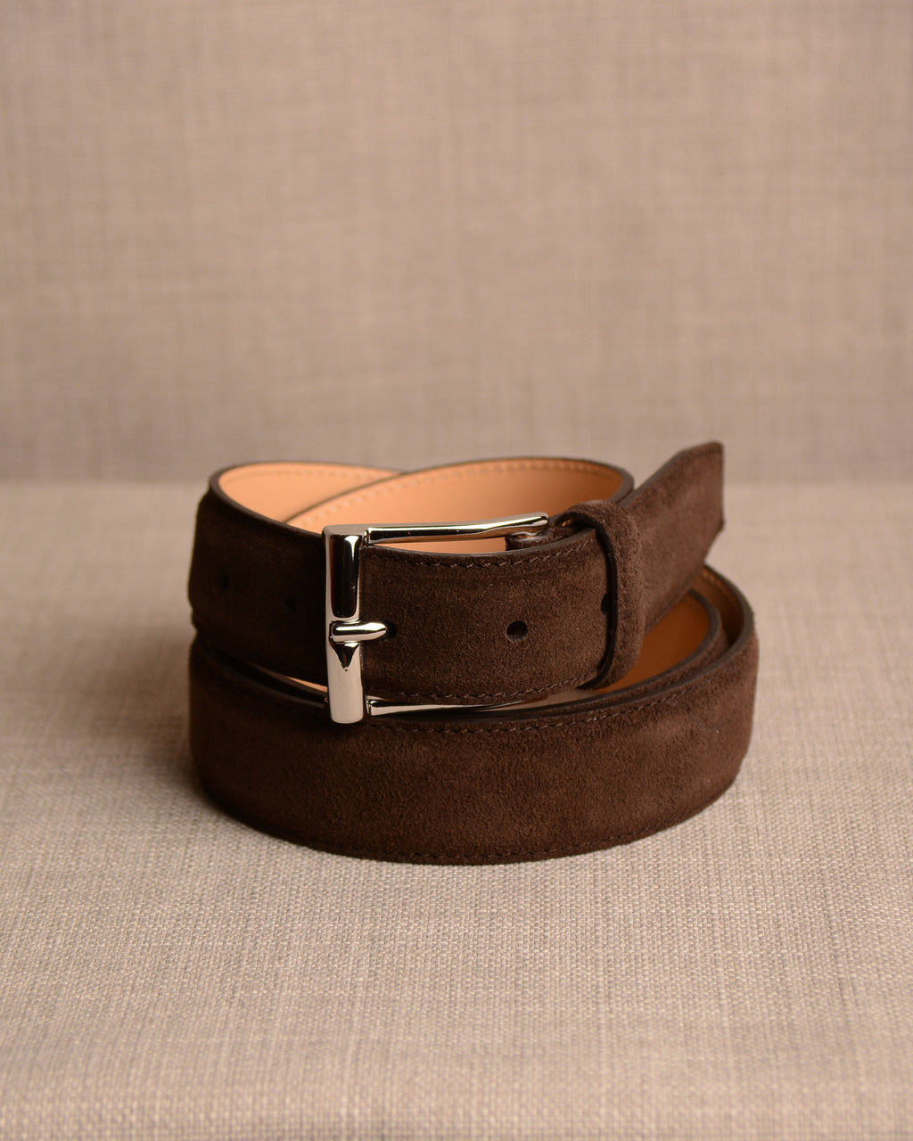 Crockett & Jones - Belt Dark Brown Suede