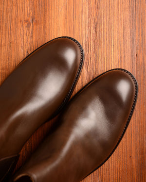 Crockett & Jones Chelsea 5 - Dark Brown Wax Calf