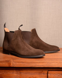 Crockett & Jones Chelsea 8 - Dark Brown Suede