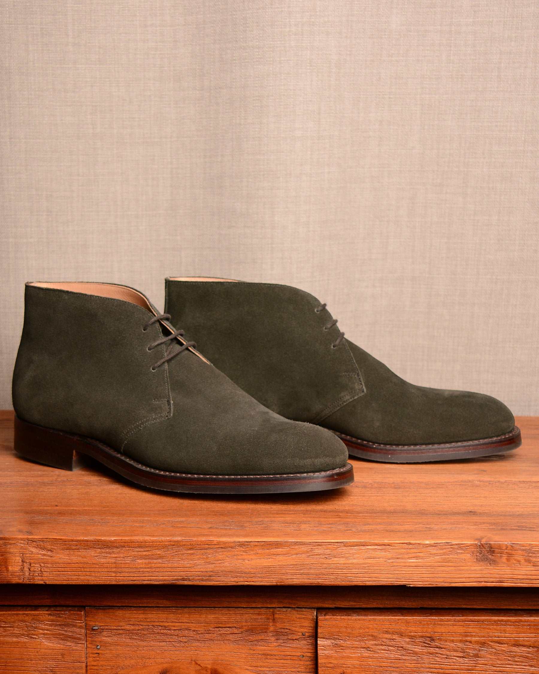 Crockett & Jones Chiltern - Earth Green Suede