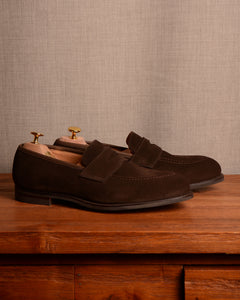 Crockett & Jones Eaton 2 - Dark Brown Suede