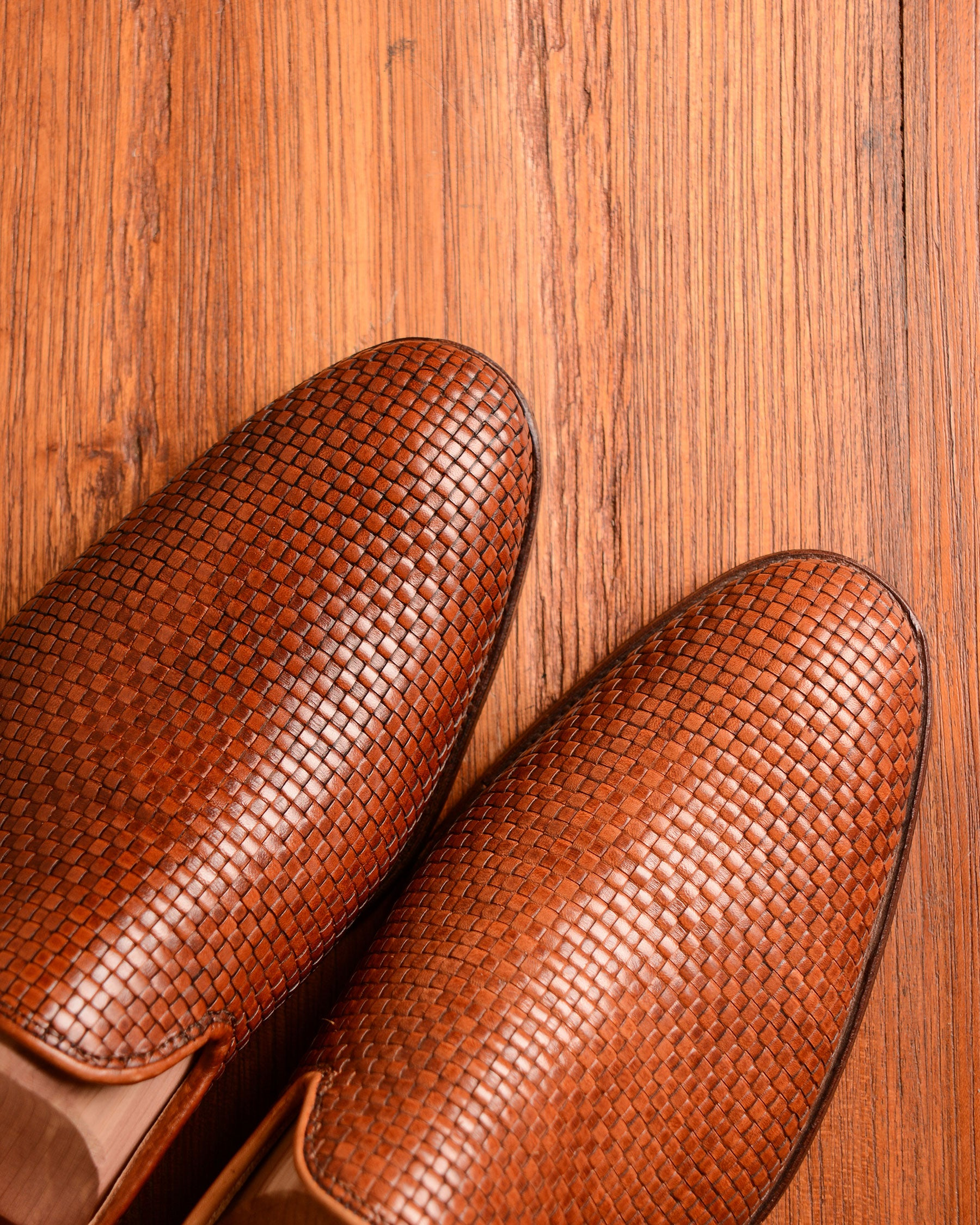 Crockett & Jones Kensington - Woven Tan Calf