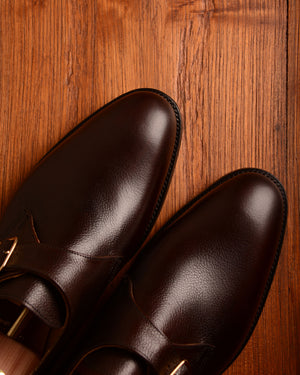 Crockett & Jones Malvern - Dark Brown Pebble Grain